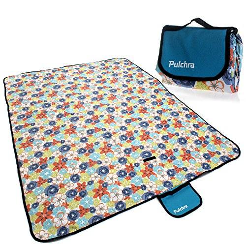 Pulchra Picnic Blanket Waterproof Premium Quality (600D Oxford Fabric) Large (80