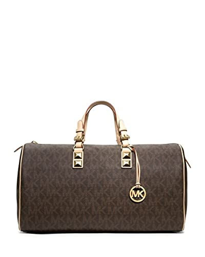 278500ce1bc2da Image Unavailable. Image not available for. Color: Michael Kors Grayson  Weekender - Brown