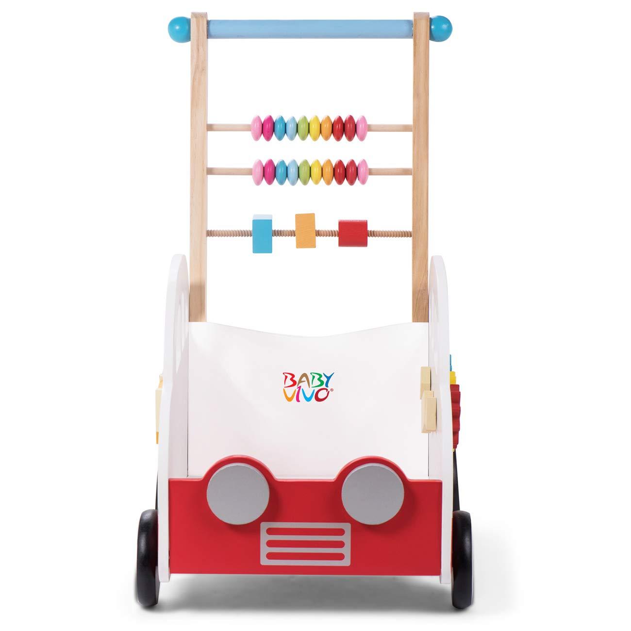 Baby Vivo Andador para Beb/é Carrito de Primer Andador Correpasillo Educativo Actividad Juguete de Madera Henry