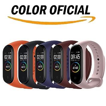 Acalder Compatible con Mi Smart Band 4,5 Piezas Correa para Xiaomi Mi Band 3/4 Pulsera Banda - Silicona Reloj de Recambio Brazalete Coloridos Correas ...