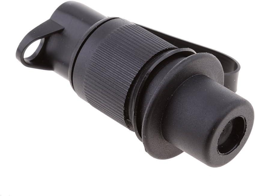 H HILABEE 4 X 12V 3 Poliger Elektrokabelstecker Steckdose F/ür Anh/änger