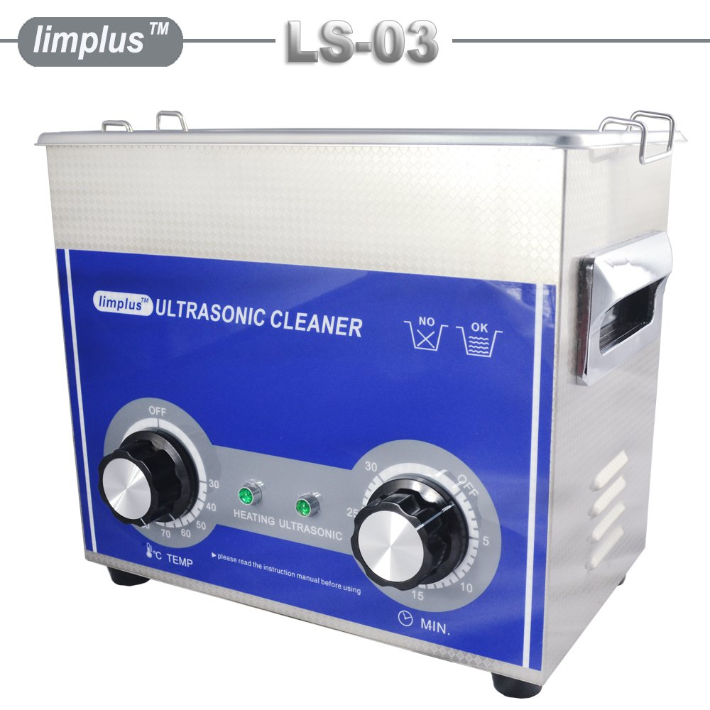 limplus Dental Ultrasonic Cleaner 3liter 40kHz Ring Bath Jewelry Eyeglasses Knob Control Timer Industrial Cleaning Equipment by limplus (Image #2)