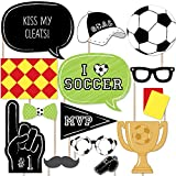 Big Dot of Happiness GOAAAL! - Soccer Photo Booth Props Kit - 20 Count