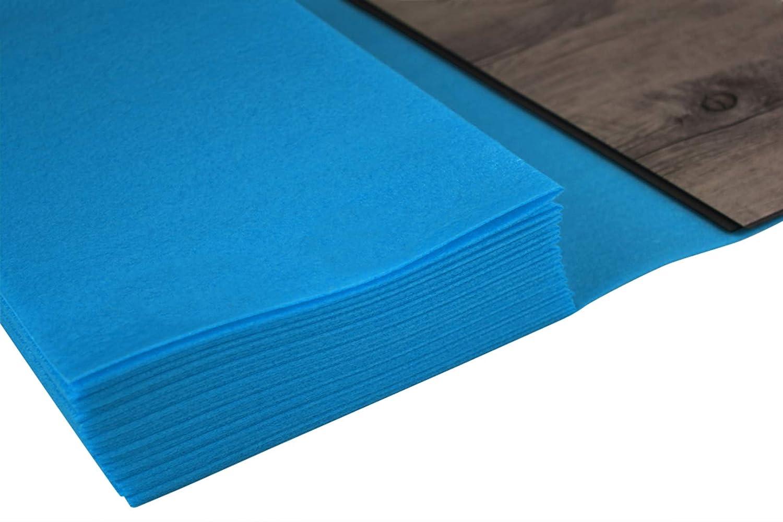 Boden Unterlage Klick Vinyl PE-VINYL 20 m/² Trittschalld/ämmung f/ür Vinylboden