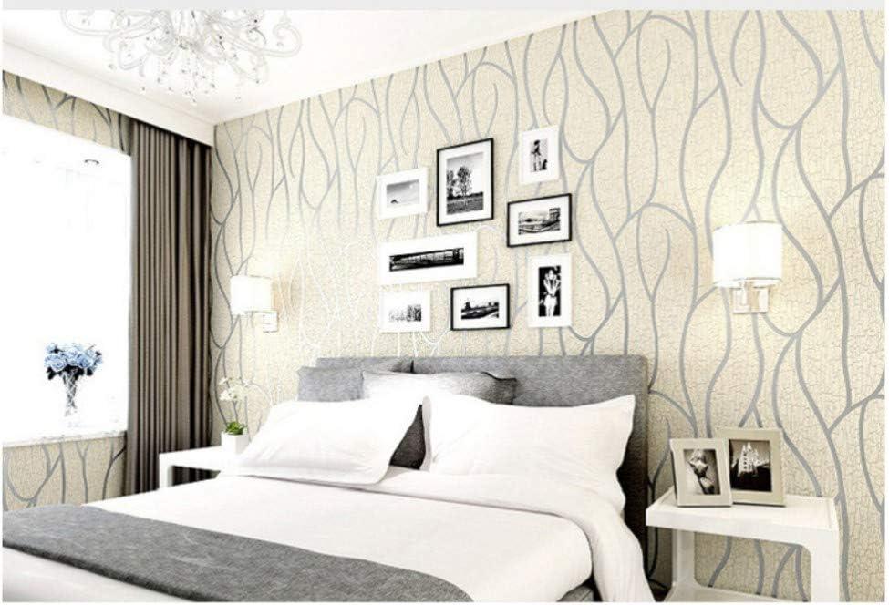 Papel Pintado No Tejido Dise/ño Moderno Rayado Efecto Gris Pared Dormitorios Sal/ón Hotel Fondo De Tv Elegante Moderno Fine Decor 0.53x10m