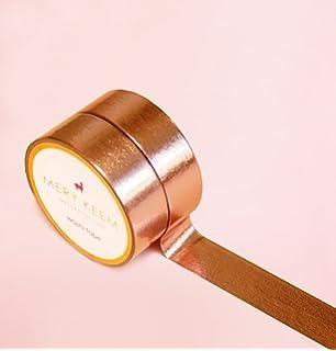 6mmx30m Gnognauq Rose Gold Foil Washi Tape,Wedding Washi Tape,Copper Washi Tape,Plain Washi Tape Electrical Repairs Paper Decor