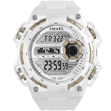 SW Watches Relojes Deportivos Digitales Choque Resist Military Men Waterproof Watch LED Relojes Mecánicos Automáticos Marca De Lujo SMAEL,B: Amazon.es: ...