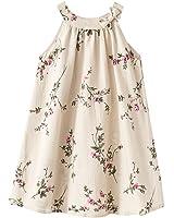 Girls' 2T-12 Linen Casual Dress Summer Floral Tank Shift Dress