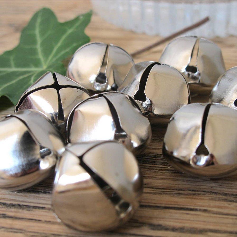 (500-Count)- Kraft Jingle Bells - ( 1- inch ) -, Value Bulk Jingle Bells Decorative Supplies, 25mm Holiday Bell, Home n Décor by Milk_Way_Jew