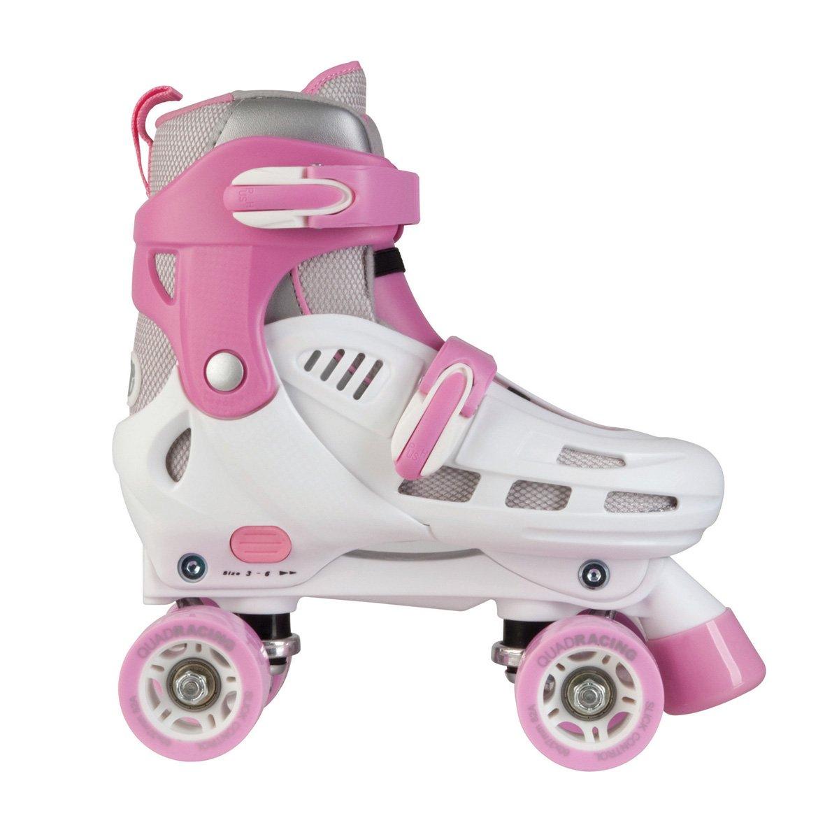 SFR Storm Roller Skates White//Pink