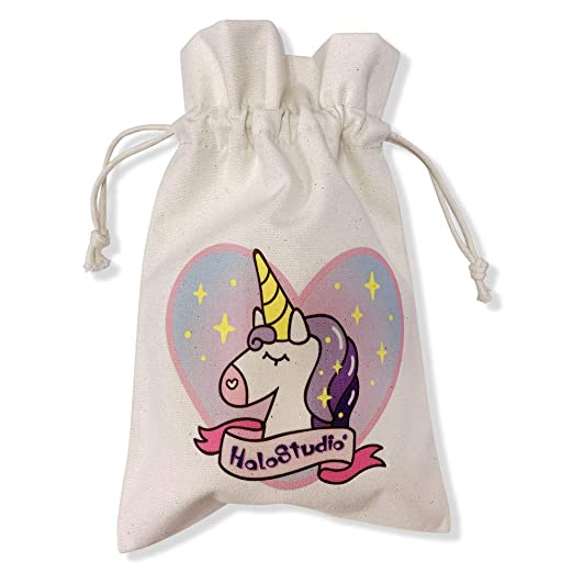 GOLDEN DEER Unicornio Lona Bolsa de algodón Bolsa Eco Tela ...