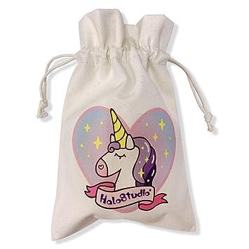 GOLDEN DEER Unicornio Lona Bolsa de algodón Bolsa Eco ...