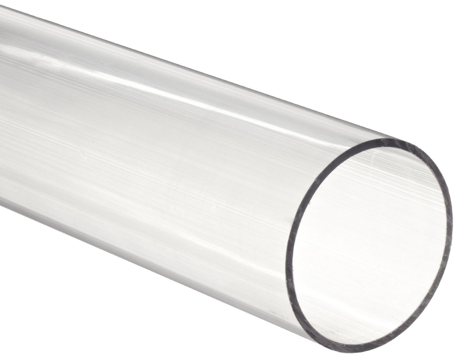 Polycarbonate Tubing, 2 1/4'' ID x 2 1/2'' OD x 1/8'' Wall, Clear Color 36'' L