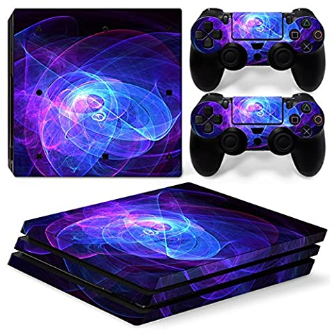 Chickwin PS4 Pro Vinyl Skin Full Body Cover Sticker Decal For Sony Playstation 4 Pro Console and 2 Dualshock Controller Skins (Purple (Ps4 Hardrive 1tb)