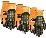 MidWest 94P03-L-AZ-6 Max Grip, 3 Pair Pack, Mens Orange
