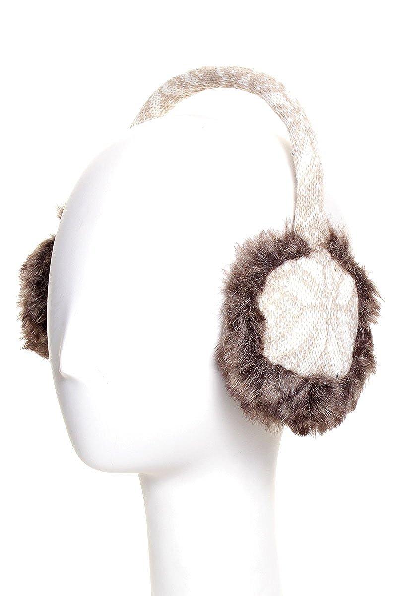 Fairisle Snow Flake Cold Weather Knit Earmuffs