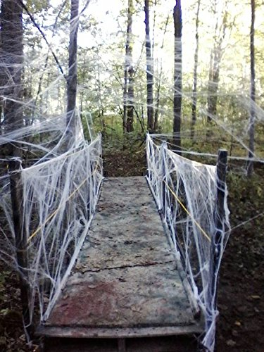 Moon Boat Fake Spider Web Halloween Party Decorations Props 800 sqft]()