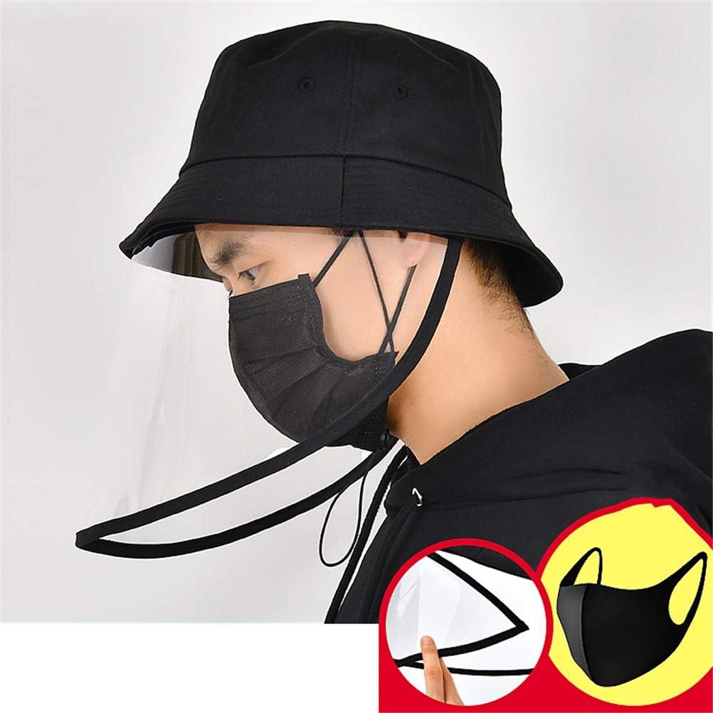 GFYWZ Máscara Transparente Anti-Saliva con Sombrero Protector para Proteger La Salud Familiar Seguridad Protectora Protector Facial Aislamiento Transparente Cara Completa