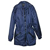 ShedRain Packable Anorak Jacket Lightweight BITTY DOT Blue, Small/Medium
