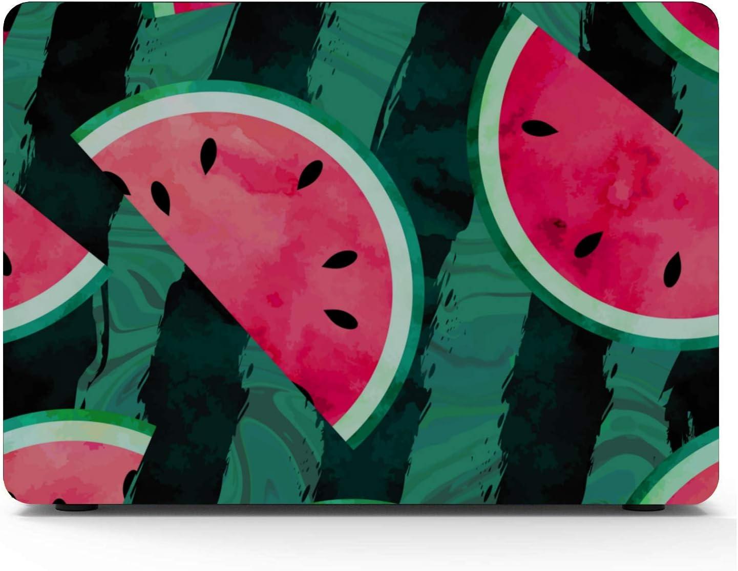 Laptop Case Summer Vintage Cute Fruit Watermelon Plastic Hard Shell Compatible Mac Air 11 Pro 13 15 12 Inch MacBook Case Protection for MacBook 2016-2019 Version