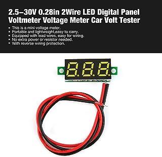 Footprintse 2.5-30 V 0.28 in 2 fili LED Digital display pannello voltmetro elettrico voltmetro volt tester per auto batteria auto moto