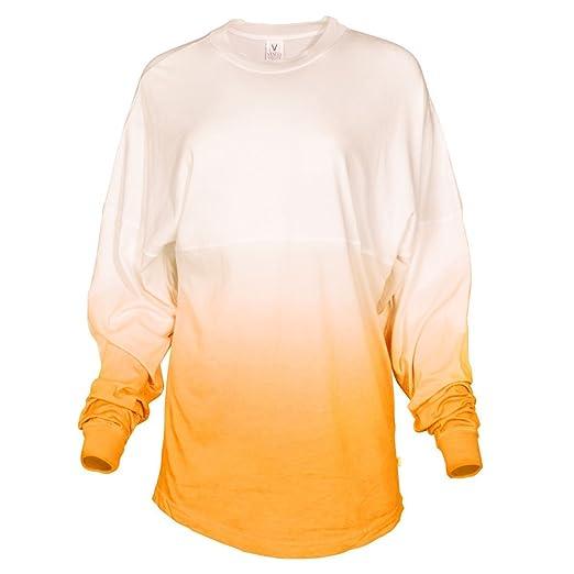 d3acf7add Amazon.com: Tess Venley Women's Long Sleeve Tie- Dye Ombre Spirit Wear Jersey  T-Shirt: Clothing