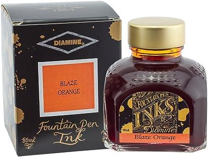 Diamine Ink Blaze Orange - Tinta de escritura en vaso de tinta (80 ml)