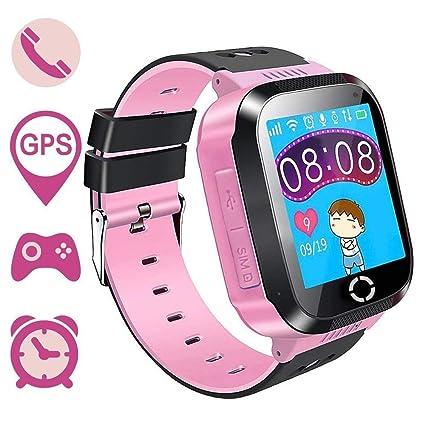Reloj para Niños 1.44 Niños Inteligente Relojes GPS Tracker Pulsera Reloj Inteligente SOS Pantalla