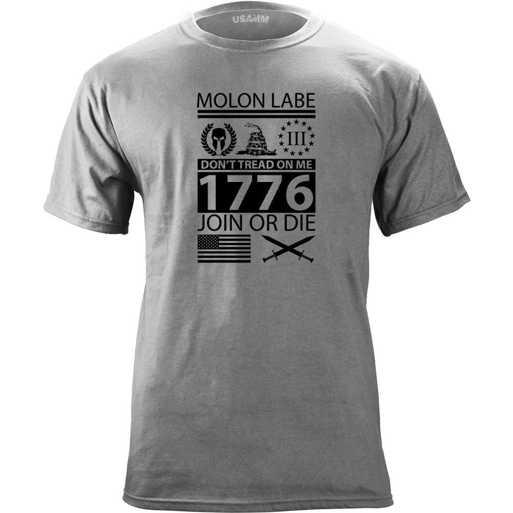 USAMM Original Molon Labe Ultimate Patriot T-Shirt
