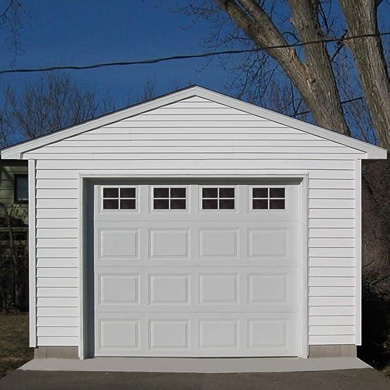 Paneles magnéticos decorativos para puerta de garaje y ventana, vinilo, gruesos adhesivos de cristal tintado, precortados, 16 hojas para 1 cochera: Amazon.es: Bricolaje y herramientas