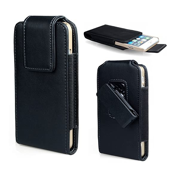 d61a6683ee Faux Leather Vertical Swivel Belt Clip Holster Pouch Case for Samsung Galaxy  S9 Active Motorola
