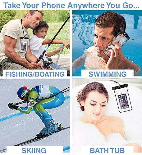 ⚡ [ Premium Quality ] Universal Waterproof Phone Holder with ARM Band & Lanyard - Best Grade Water Proof, Dustproof, Snowproof & Shockproof Pouch Bag Case for Apple iPhone, Android and All Smartphone by VK Voxkin (Image #8)
