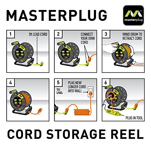 Masterplug Electrical Cord Storage Reel with 4 120V 10 amp outlets by Masterplug (Image #1)