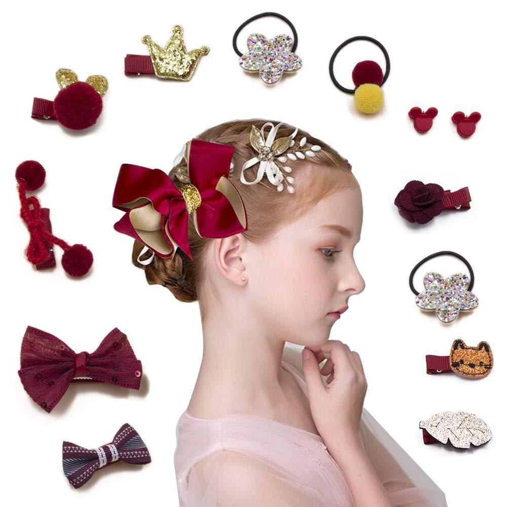 Xmas Kids Girls Baby Headband Toddler Bow Hair Band Accessories Headwear Hairpin