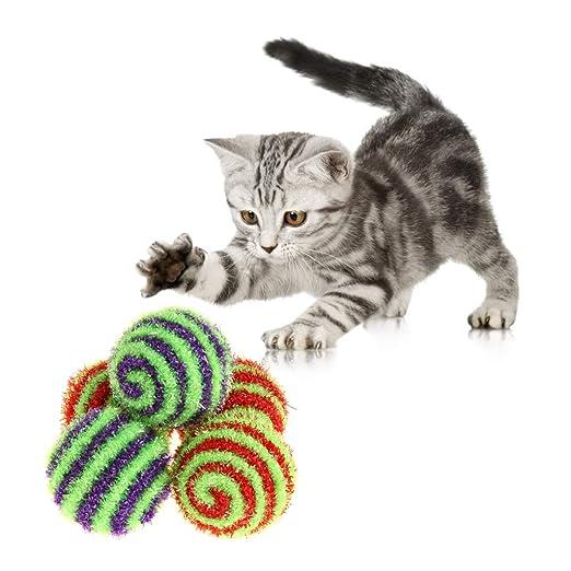 Yanhonin - Juego de 5 bolas de leopardo interactivo, juguete para ...
