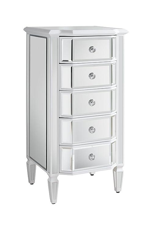 My-Furniture - Cómoda Alta de 5 cajones con Espejo - Gama ...