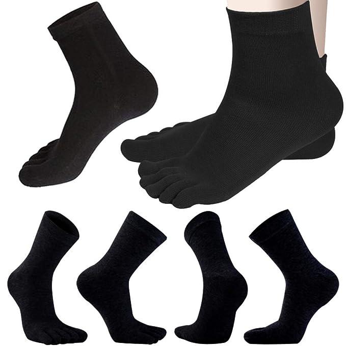 1539d809fd3e2 REVEW Men Toe Socks Five Finger Socks Cotton Soft and Breathable Low Cut  Socks for Men