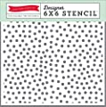 """Echo Park Paper SP106034 Random Dot Decorative Stencils, 6"""" by 6"""""""