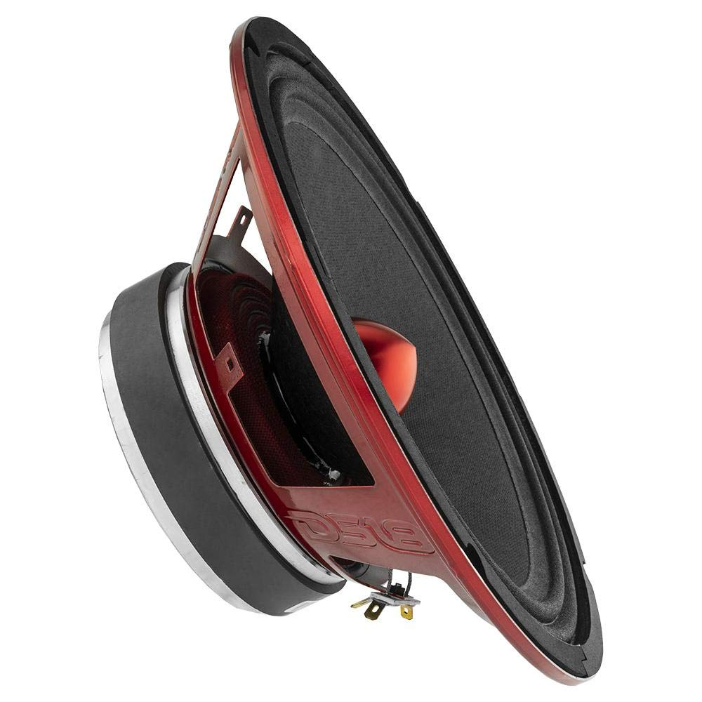 DS18 PRO-X10BM Loudspeaker - 10'', Midrange, Red Aluminum Bullet, 600W Max, 300W RMS, 8 Ohms - Premium Quality Audio Door Speakers for Car or Truck Stereo Sound System (1 Speaker) by DS18 (Image #4)