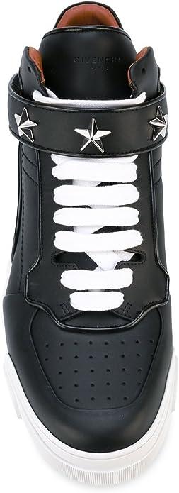 Givenchy Homme Bm08420811001 Noir Cuir Baskets Montantes