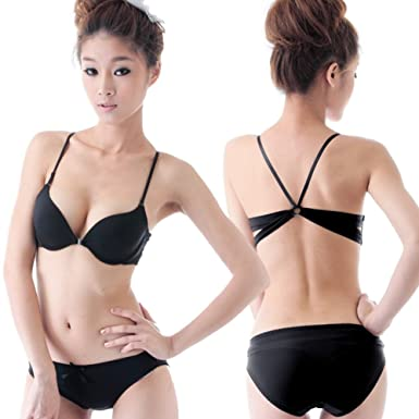 front clasp bra set/Girls beautiful back underwear/ skin deepV underwear/ gather elegant