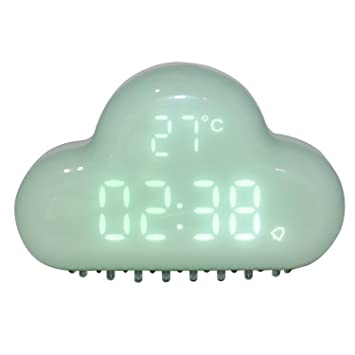 Reloj despertador de nubes Reloj despertador creativo Mini Relojes de viaje para el hogar Control de