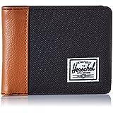 Herschel Supply Co. Men's Edward RFID Blocking Bi-Fold Wallet, Black/Tan Synthetic Leather