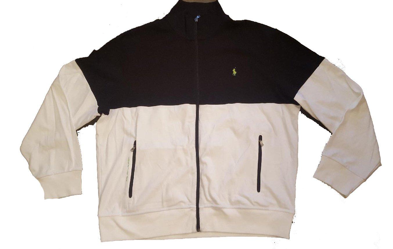 Polo Ralph Lauren Interlock Black White Mens Track Jacket XXL by RALPH LAUREN