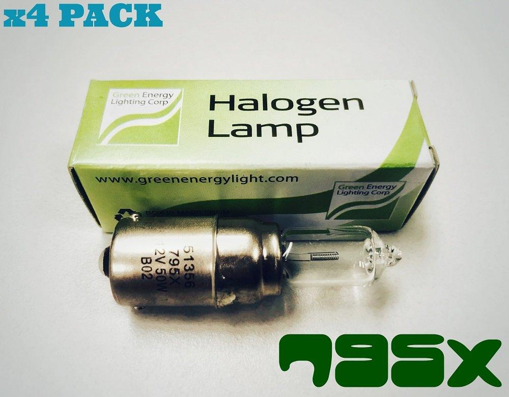 #795X GREEN ENERGY HALOGEN BULB 12.8V 50W BA15S (4 PACK)