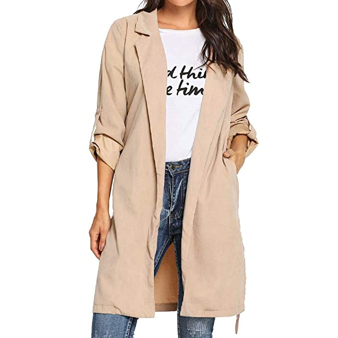 Connia Hot Women Casual Roll-up Jacket Cardigan Fall Winter ...