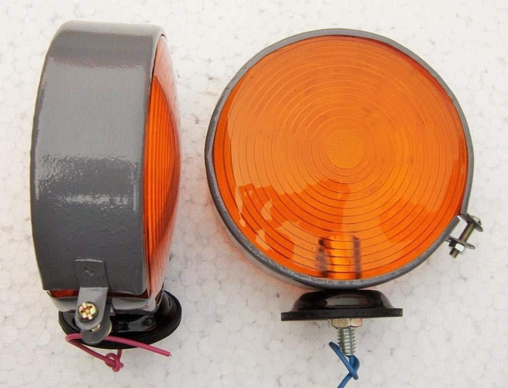 Massey Ferguson John Deere Other Tractor Safety Warning Light Pair 12V Amber-Amber by Bajato