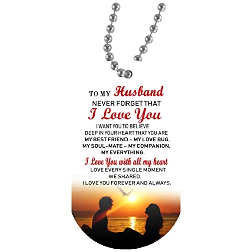 0fd544e5a2 eConvenience Store To My Husband Love Wife Dog Tag Necklace Aluminum  Military Dogtags Necklaces Love Gift