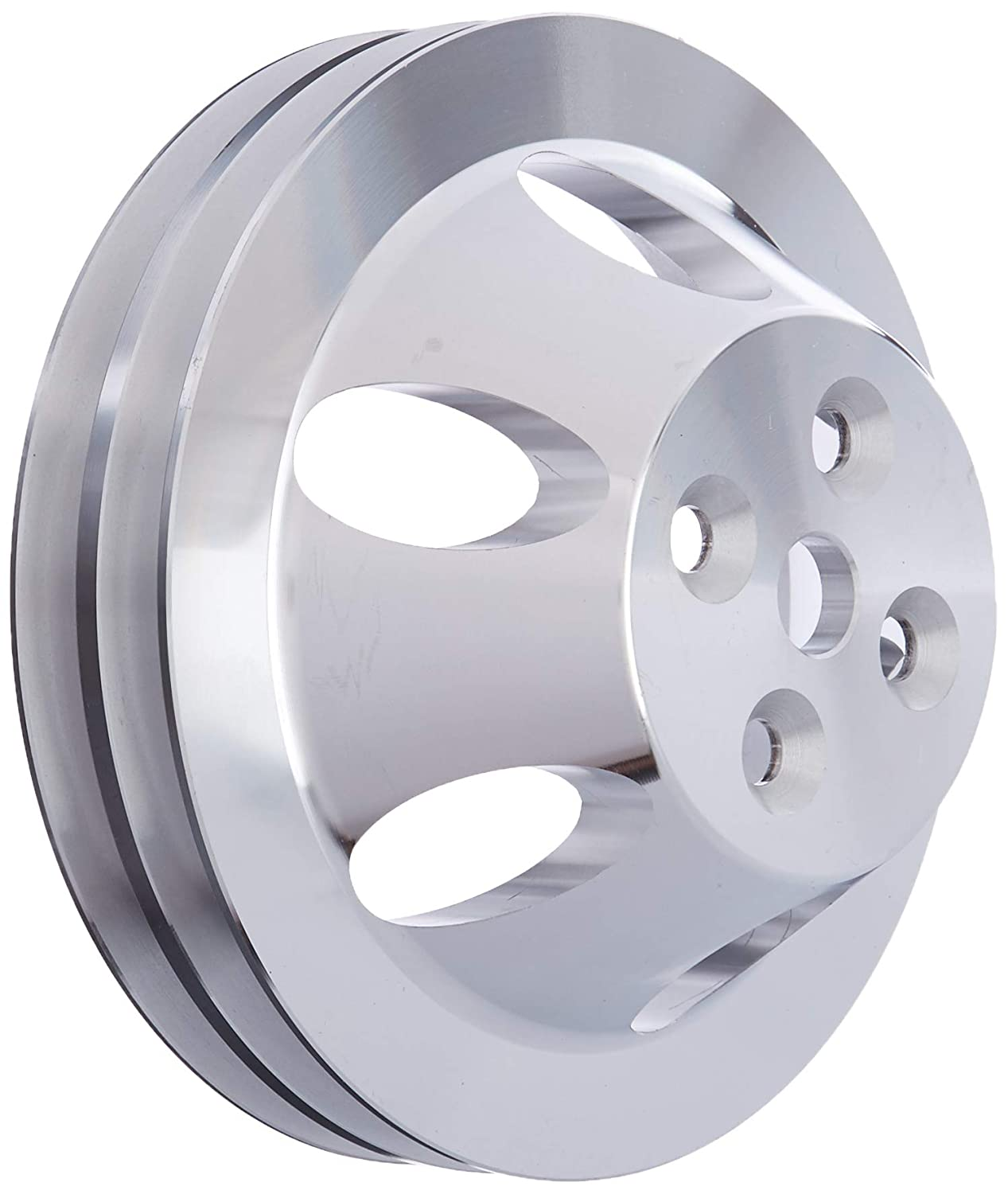 Racing Power Company R8842 Satin Aluminum SWP Double Groove Pulley for Big Block Chevy