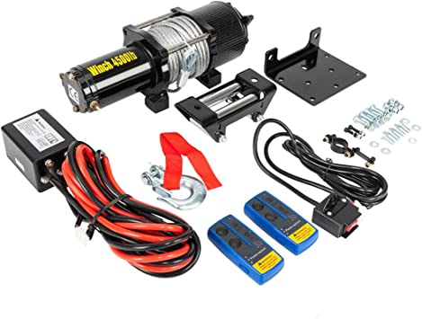 Amazon Com 12v 4500lbs Electric Recovery Winch Fit For Car Truck